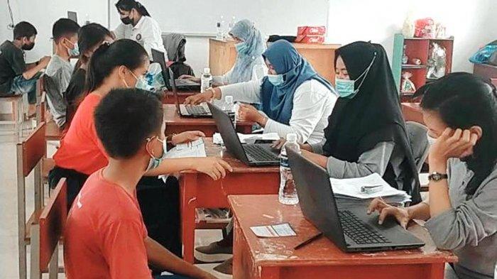 Vaksinasi Corona di Batam Sasar 1.345 Pelajar SMPN 27 Kelurahan Sei Pelunggut