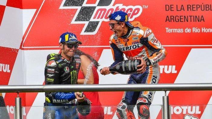 MOTOGP 2019 - Disebut Sebagai Masalah Terbesarnya, Ini Nasehat Valentino Rossi untuk Marc Marquez