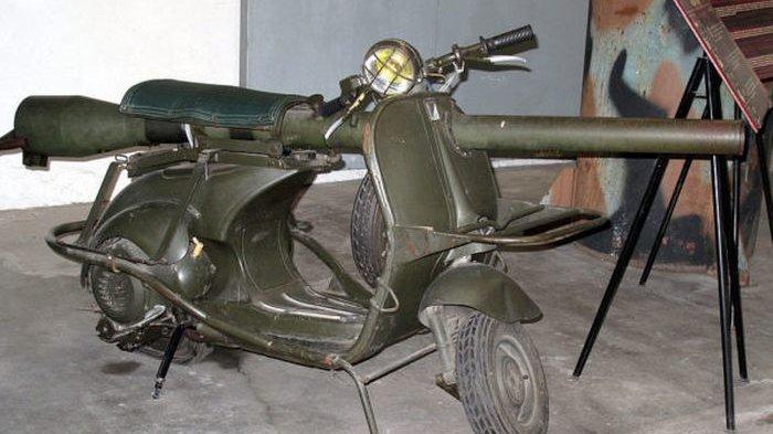 Vespa Bazooka TAP 150, Skuter untuk Perang, Paling Berbahaya yang Pernah Dibuat