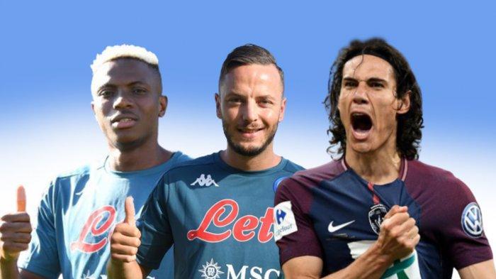 UPDATE Transfer Liga Italia - Napoli Rekrut Osimhen, Conte Minta Arturo Vidal, Cavani Tolak Juventus