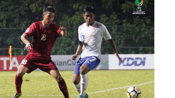 AFC U16 2018 - Dramatis, Vietnam Dikalahkan India, Timnas U16 Indonesia di Puncak Klasemen