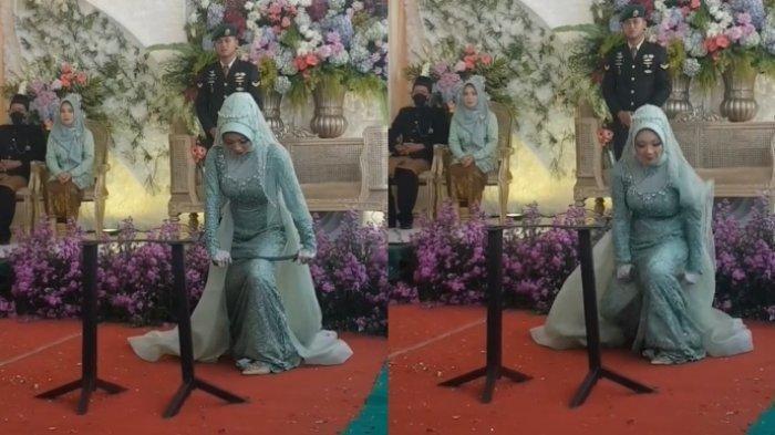 Viral Pengantin Wanita Patahkan Besi di Acara Pernikahan, Ngaku Spontan dan Didukung Suami