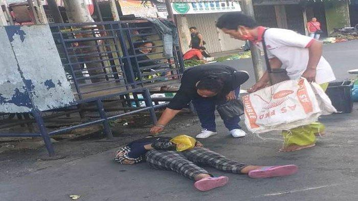 Viral di Medsos, Wanita Tergeletak Histeris di Depan Pos Dishub Tanjungpinang