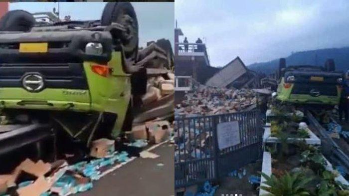 Bukan Selamatkan Korban Kecelakaan, Warga Malah Jarah isi Truk yang Terguling dan Bawa Pakai Motor