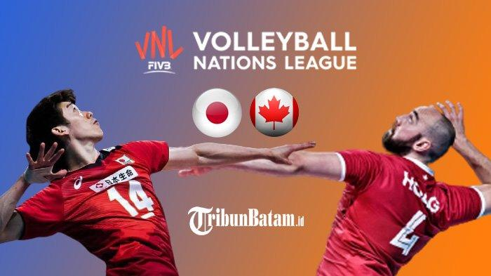 Jadwal Volleyball Nations League 2021 Hari Ini 18.00 WIB: Jepang vs Kanada Live O Channel