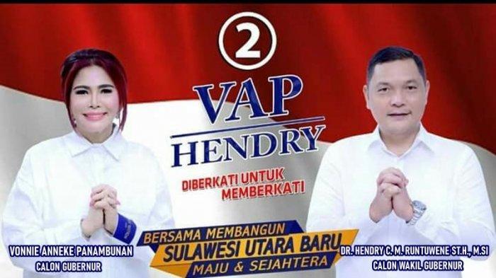 Pasangan Vonnie Anneke Panambunan - Hedry Runtuwene sebagai calon Gubernur - Wakil Gubernur Sulut periode 2020 - 2024, namun kalah.