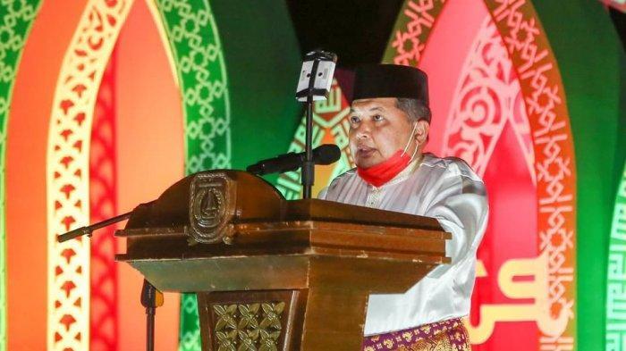 Wakil Bupati Anambas, Wan Zuhendra saat menghadiri Seleksi Tilawatil Quran dan Hadist di Kecamatan Siantan Selatan, Anambas, Minggu (21/3/2021).