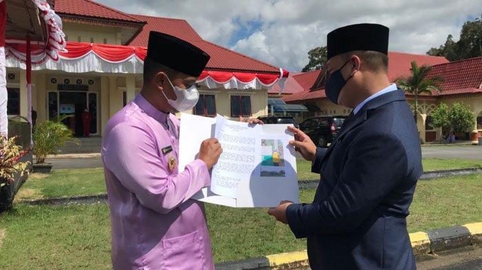 Wabup Lingga Soroti Proyek Jalan Rp 3,8 Miliar, Serahkan Hasil Sidak ke Bupati