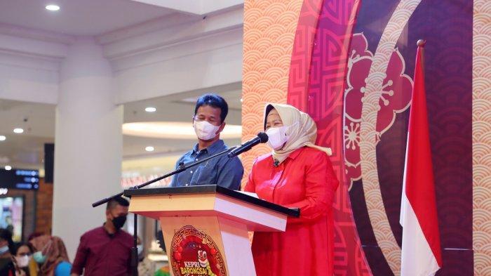 Wagub Kepri Marlin Agustina saat menutup Kepri Barongsai Festival 2021 di Atrium Mega Mall Batam Centre.