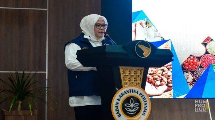 Wakil Gubernur Kepri Marlin Agustina di Kantor BP Batam, Sabtu (14/8).