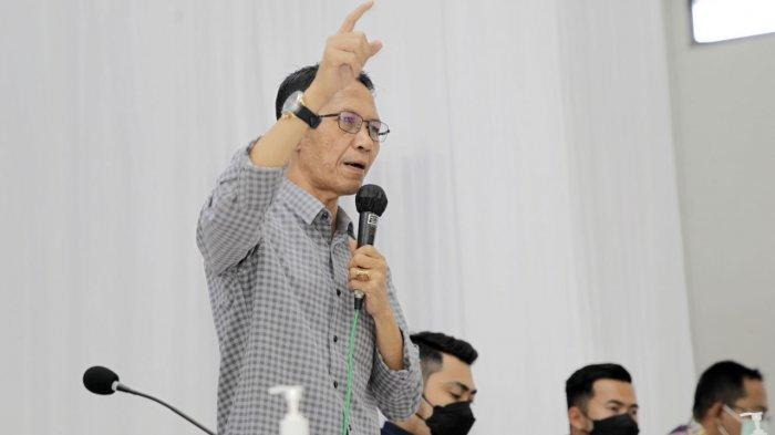 Pemko Batam Pasang Target, Jalan Kecamatan Belakang Padang Bakal Diaspal Tahun Ini. Foto Wakil Wali Kota Batam, Amsakar Achmad hadir dalam pembukaan Musrenbang Belakangpadang, Sabtu (20/2/2021).