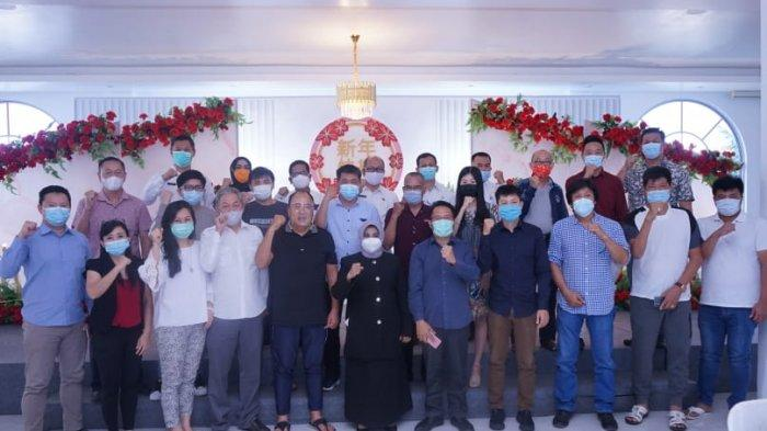 Wali Kota Tanjungpinang Rahma bersama sejumlah pengusaha Kota Tanjungpinang, Provinsi Kepri.