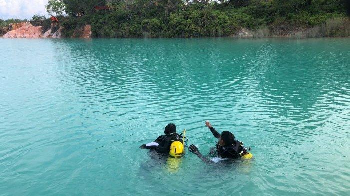Basarnas Cari Warga Tanjung Pinang, Mobil Ditemukan Dalam Danau Biru Bintan