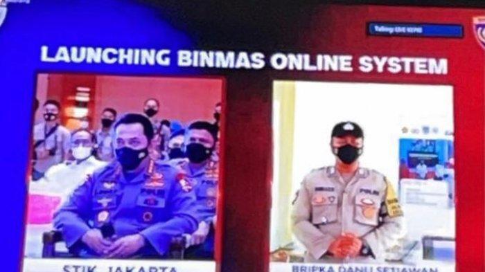 Bripka Dodi Setiawan saat memberikan penjabaran di depan Kapolri Jenderal Listyo Sigit Prabowo