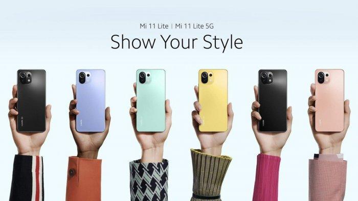 Xiaomi M11 Lite dan Xiaomi M11 Lite 5G yang sudah diluncurkan