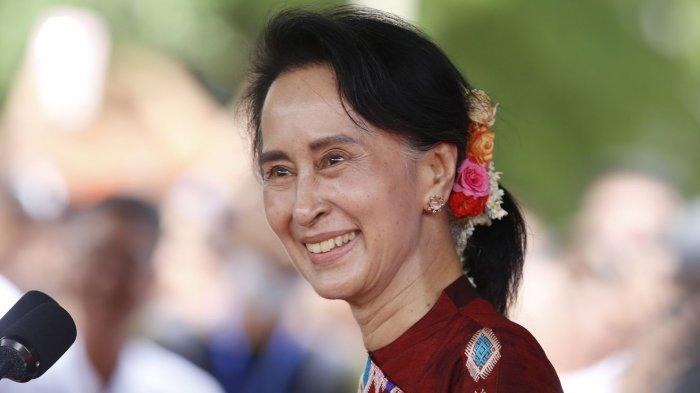 AUNG SAN SUU KYI - SIAPA Aung San Suu Kyi? Ditahan di Negara Sendiri tapi Mati-matian Dibela AS dan PBB. FOTO: SOSOK AUNG SANG SUU KYI