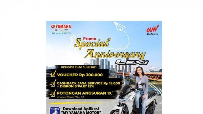 Beli Yamaha LEXi di Bulan Juni, Berkesempatan Mendapatkan 3 Keuntungan Spesial