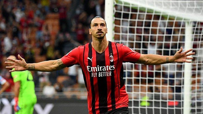 Hasil Liga Italia AC Milan vs Lazio, Zlatan Ibrahimovic Comeback dan Cetak Gol, AC Milan Menang