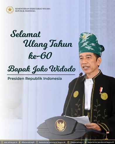 Presiden Jokowi ulang tahun ke-60
