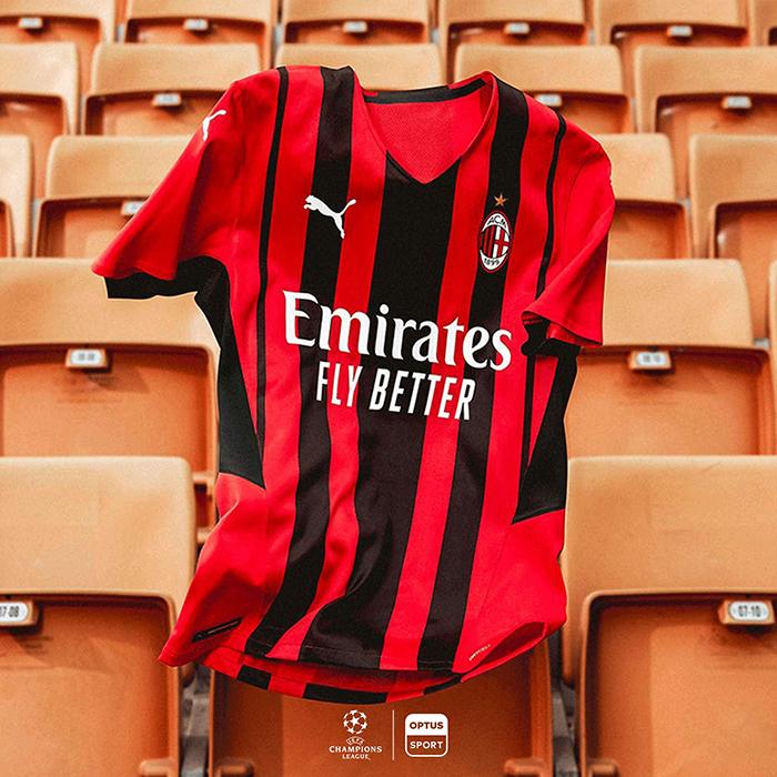 Jersey Home AC Milan untuk musim 2021-2020