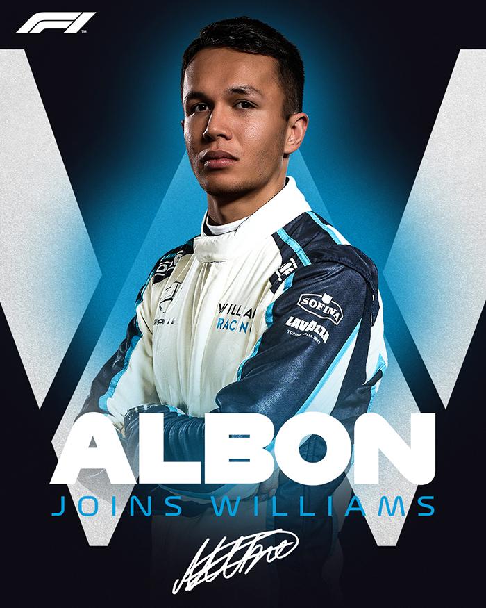 Alex Albon, pebalap Formula 1 berdarah Thailand-Inggris bergabung dengan Williams