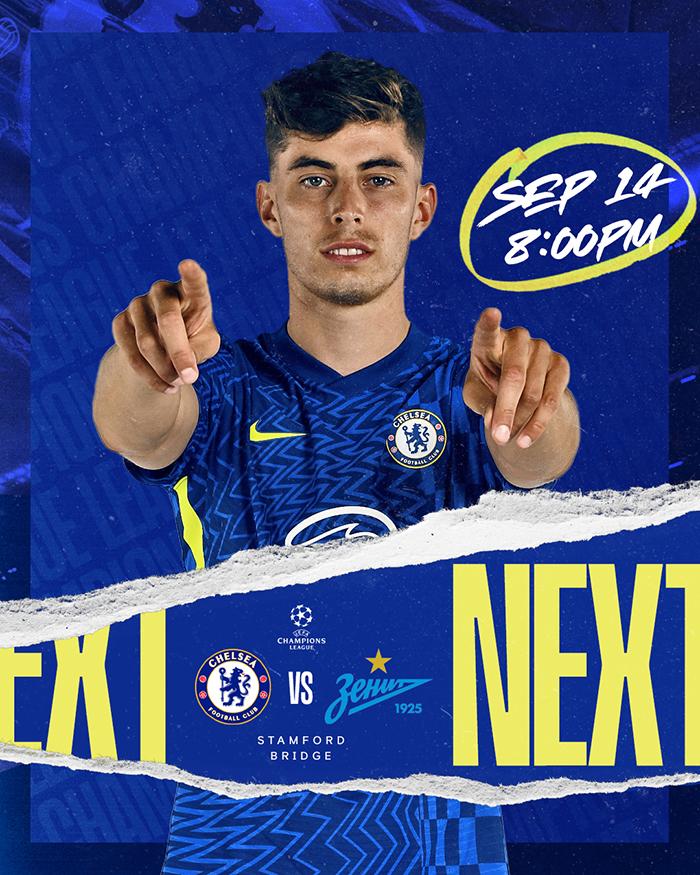 Chelsea vs Zenit St Petersburg Rabu (15/9/2021) pukul 02.00 WIB