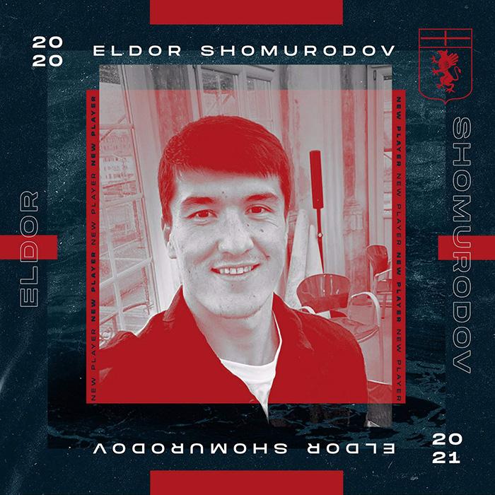 Eldor Shomurodov, pemain Genoa asal Uzbekistan yang akan pindah ke AS Roma