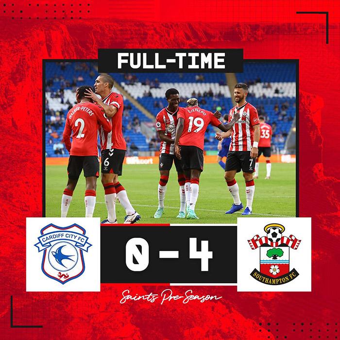 Hasil ujicoba pramusim Cardiff City 0-4 Southampton, Selasa (27/7/2021)