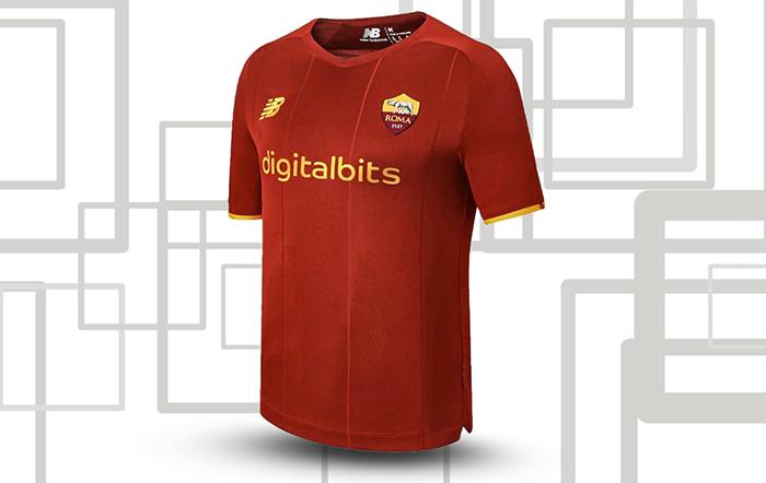 Jersey Kandang AS Roma musim 2021-2022 dipakai Nicolo Zaniolo