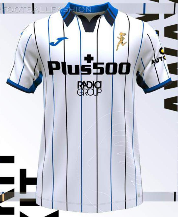 Jersey tandang Atalanta musim 2021-2022
