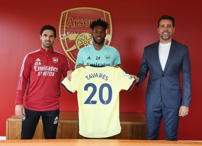 Pemain Benfica asal Portugal Nuno Tavares (21 tahun) resmi pindah ke Arsenal di bursa transfer musim panas 2021