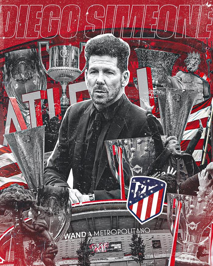 Pelatih Atletico Madrid Diego Simeone perbarui kontrak hingga 2024