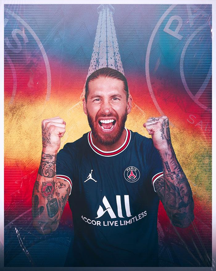 Pemain asal Spanyol Sergio Ramos resmi menjadi pemain Paris Saint-Germain (PSG) mulai musim 2021-2022