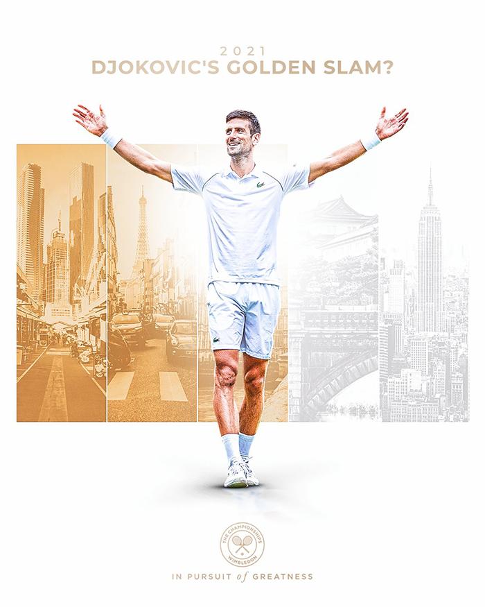 Petenis Kroasis Novak Djokovic berpeluang meraih Golden Slam setelah meraih gelar grand slam ketiganya tahun 2021 di Wimbledon.