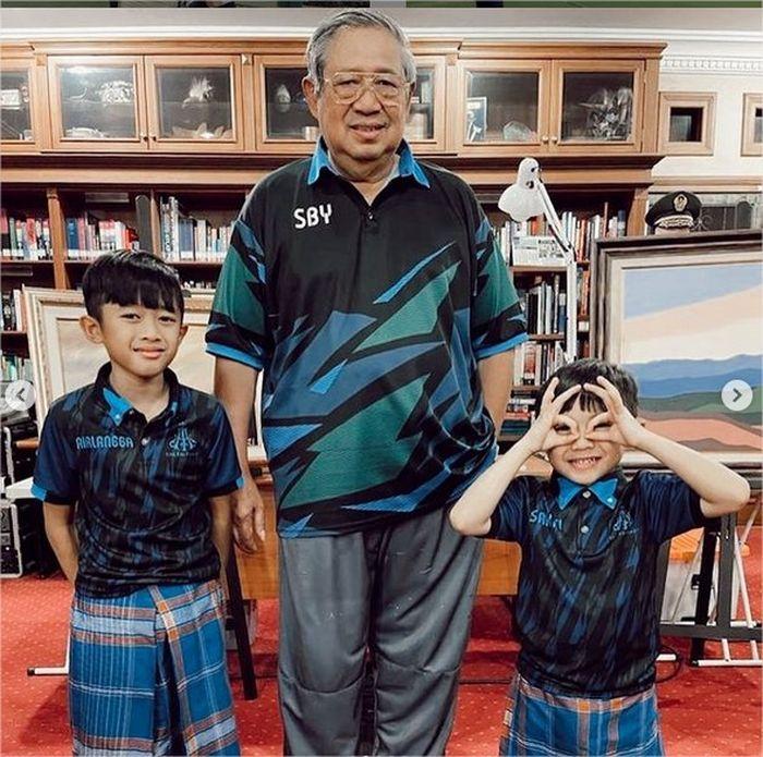 potret terbaru SBY di IG menantu