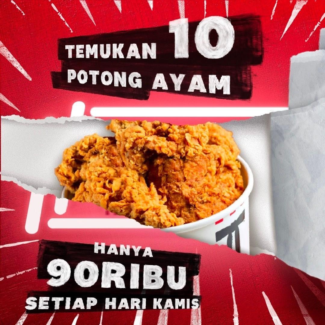 Promo KFC hari Kamis 8 Juli 2021.