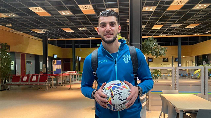 Rafa Mir pemain Wolverhampton Wanderers (Wolves) yang dipinjamkan ke Huesca