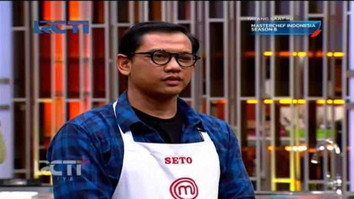 Seto dan para peserta yang ada di Galeri terkejut melihat aksi Chef Juna.