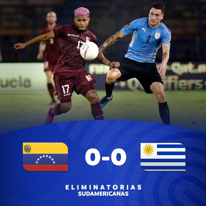 Hasil Venezuela vs Uruguay - Uruguay ditahan imbang 0-0 Venezuela di matchday 6 kualifikasi Piala Dunia 2022 Zona Conmebol, Selasa (8/6/2021).