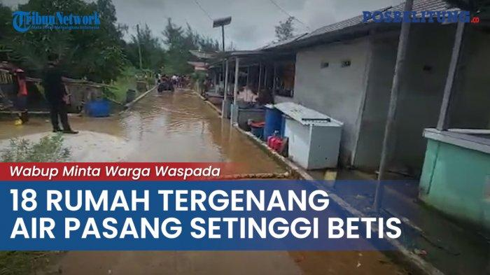 BPBD Sebut Wilayah Pesisir Tanjungpendam Harus Ekstra Waspada Banjir Rob
