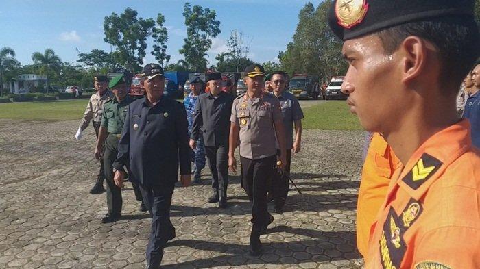 Polres Belitung Timur Gelar Apel Kesiapsiagaan Bencana bersama Forkopimda