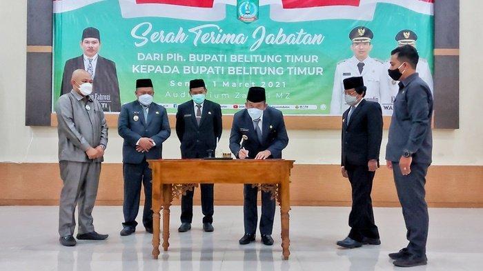 Sertijab Bupati, Burhanudin Ingin Pejabat di Belitung Timur Budayakan Rasa Malu kepada Masyarakat