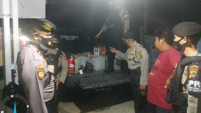 180 Liter Arak Disita Polisi di Gantung Belitung Timur