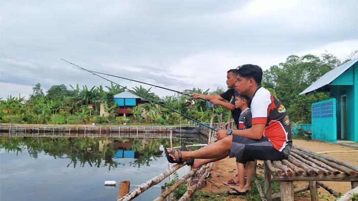 Tempat Pemancingan Zweeta Galatama Batu Itam, Ada 4.500 Ekor Ikan Siap Dipancing