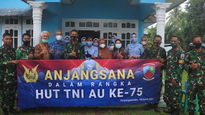 Peringati HUT TNI AU, Danlanud Anjangsana ke Rumah Keluarga Almarhum Letkol Pur HAS Hananddjoedin