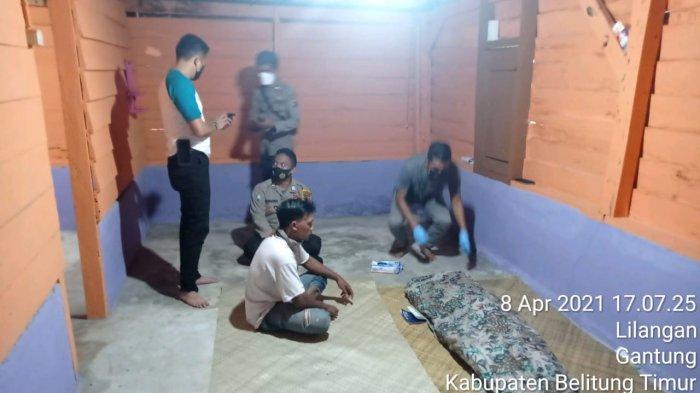Personel Polsek Gantung saat mengolah TKP, Kamis (8/4/2021) kemarin.