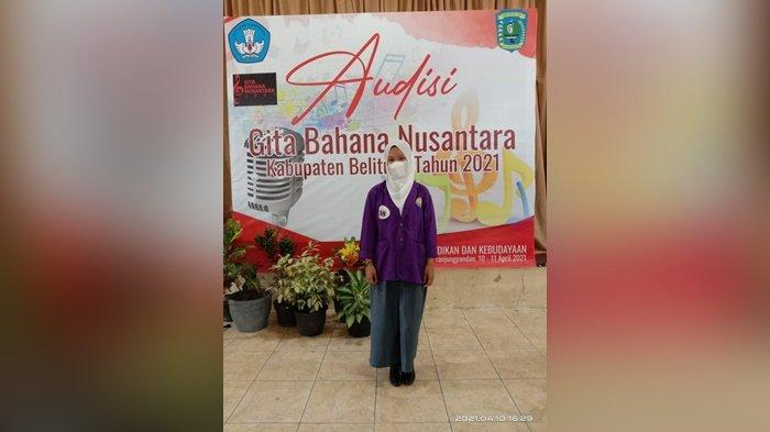 Rezha Elvina Berhasil Raih Juara 1 Pada Event Audisi Gita Bahana Nusantara Belitung