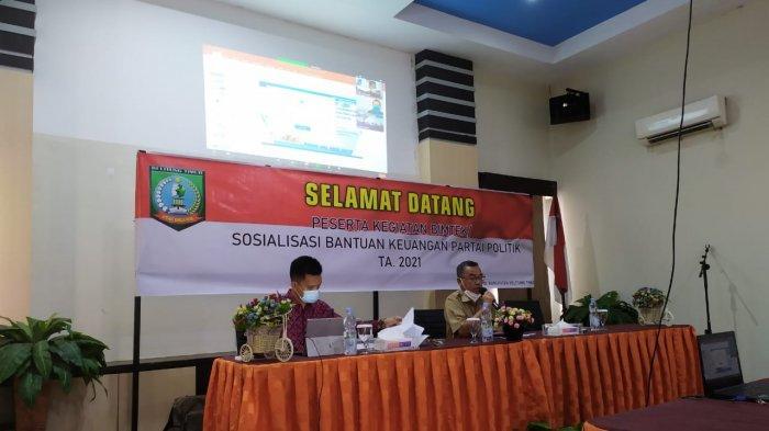 Pemerintah Belitung Timur Kucurkan Dana Rp496 Juta Buat 10 Parpol, PDIP Dapat Jatah Paling Besar