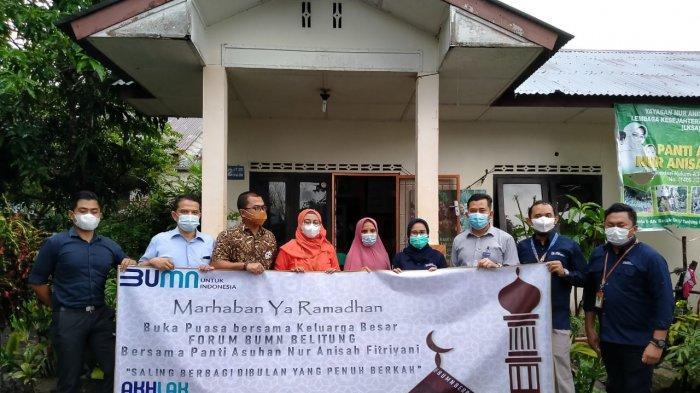 Forum BUMN Belitung Ikut Berbagi di Bulan Suci