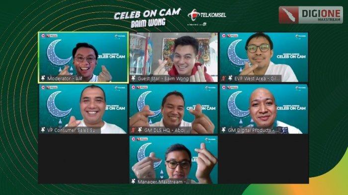 Semarakan Ramadan, Telkomsel Gelar Celeb on Cam Ngobrol Seru Bareng Baim Wong